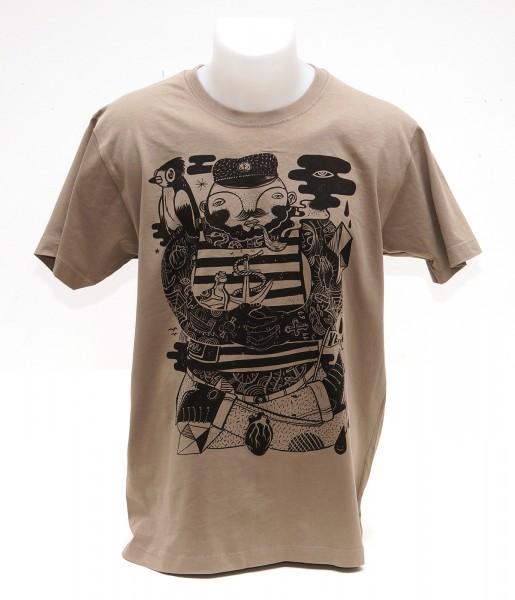 Yackfou: Käptn Konni T-Shirt auf Sahara Braun