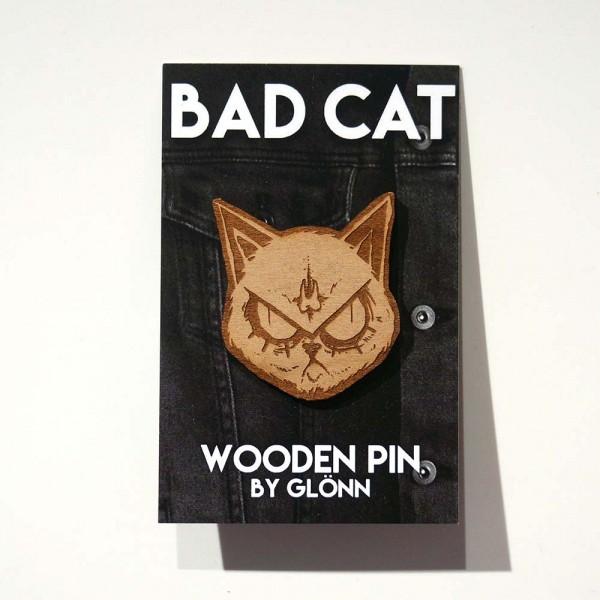"Glönn: ""Bad Cat"" - Wooden Pin - SALZIG Berlin"