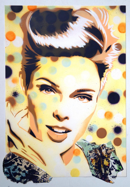 "Mariestyle: ""Cover Coco Collage"" - spraypaint stencil on paper - SALZIG Berlin"