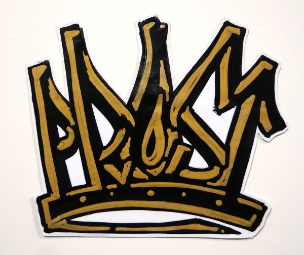 """Mein lieber Prost: """"Golden Crown"""" - Handmade Sticker"""