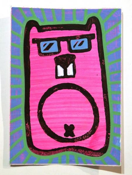 "Angry Koala: ""Pink Koala"" - Handmade Sticker"
