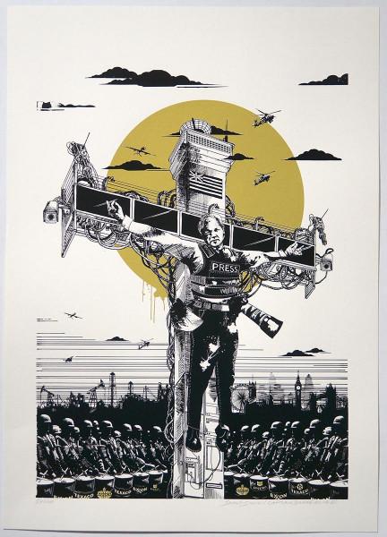 Captain Borderline: Collateral Crucifixion - Julian Assange - SALZIGBERLIN