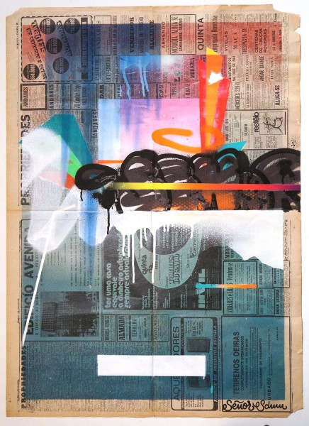"Señor Schnu: ""Untitled Abstract Newspaper 1""  - Streetart gallery salzigberlin"