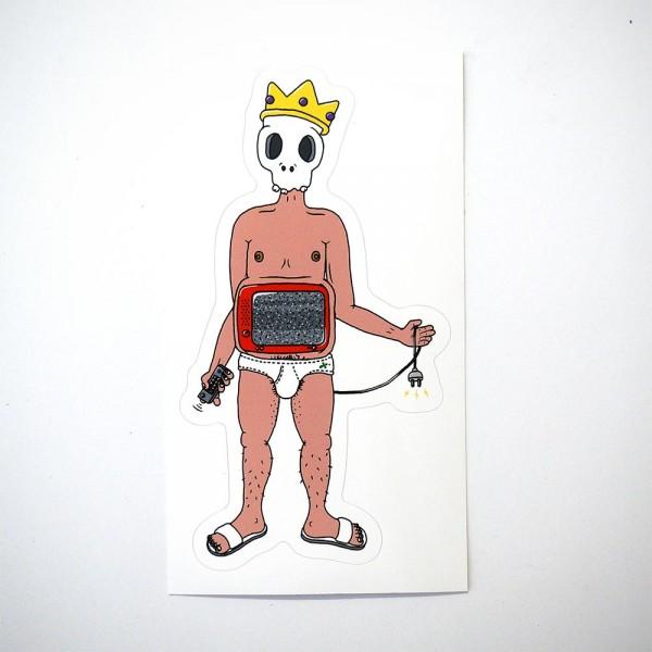 "Späm: ""Dead King"" Sticker - Humanoids Series"