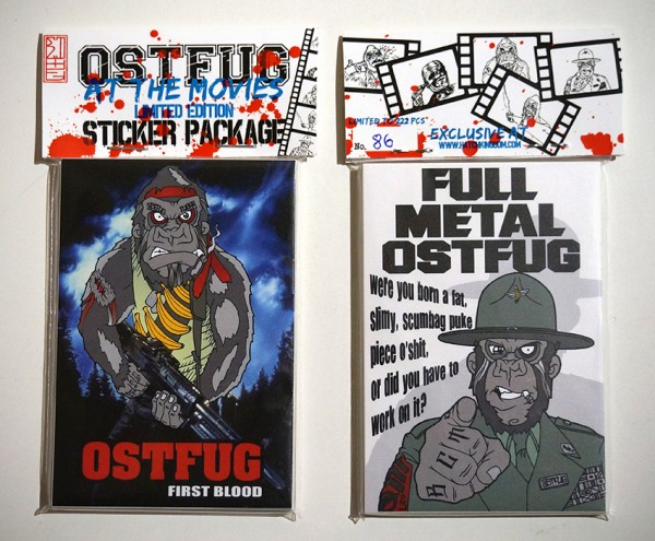 """Ostfug - """"At The Movies"""" - Front/Back - 25 Stickers"""