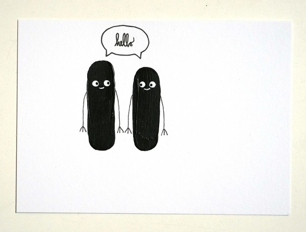 "Rabea Senftenberg: ""Hello"" original postcard"