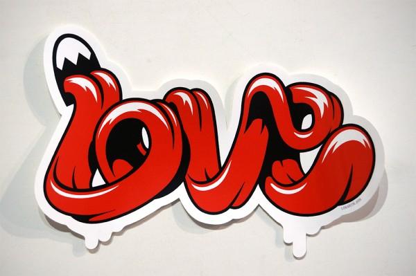 "Lunartik: ""Lick of Love""  - Vinyl Sticker"