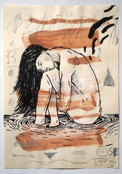 "Sam Crew aka John Reaktor: ""Woman in Water"" - Art de Rue - SALZIGberlin"