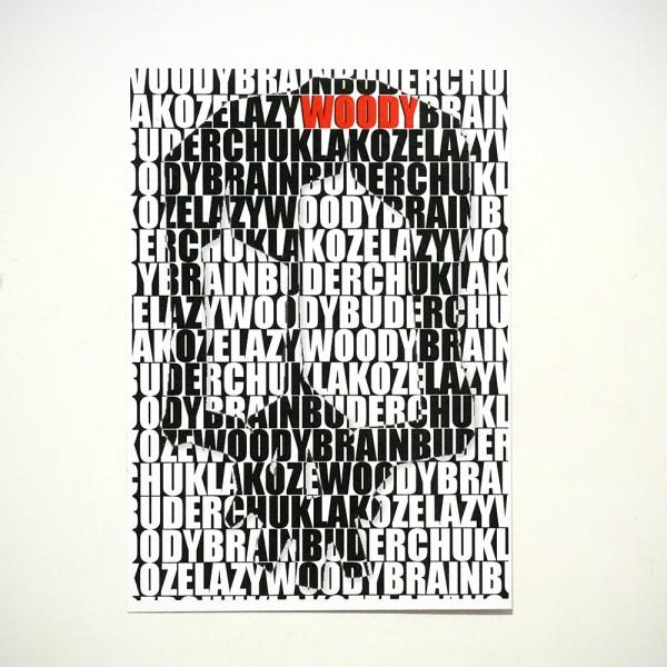 "Wudywood: ""Collabo Sticker""  - 10,5cm x7,4cm / Sticker"