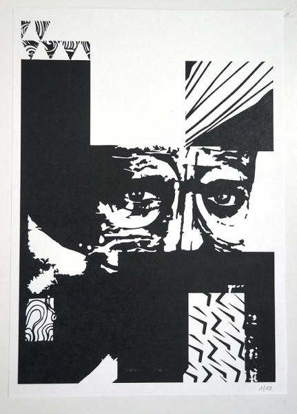 """FLOCKE//ART: """"COLLAGERALSCHADEN 08"""""""