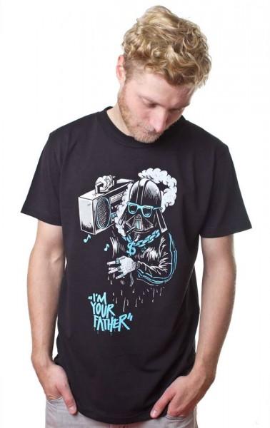 Yackfou - Darth Gangster T-Shirt auf Schwarz
