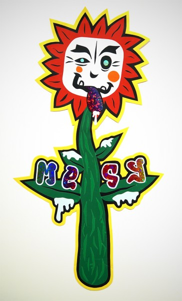 "Mesy: ""Flower"" Sticker Handcut"