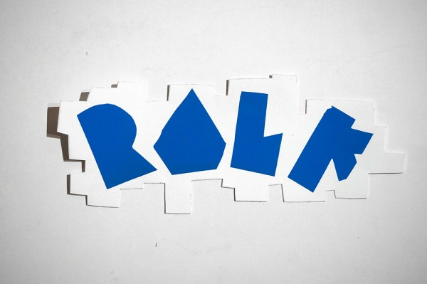 "ROLF LE ROLFE: ""Blue"" - Handcut Sticker"