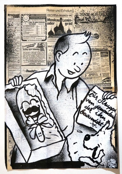 "Señor Schnu: ""Present For Milou"" - newspaper 1950s - available at SALZIG Berlin"
