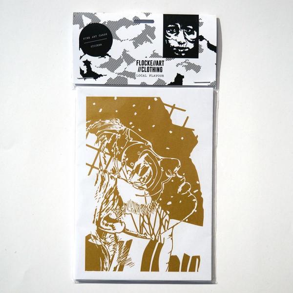 Flocke: Fine Art Postcard and Sticker Set 2 - A6 - salzig berlin