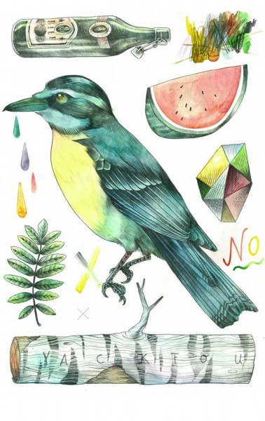 """Yack Fou: """"Kolibri"""" - Poster A2"""