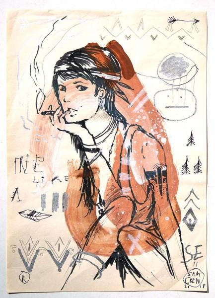 "Sam Crew aka John Reaktor: ""Woman Looks"" - Art de Rue - SALZIGberlin"
