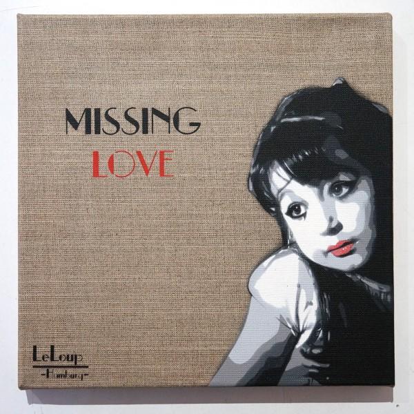 "Le Loup: ""Missing Love"" - 2017 - stencil on canvas salzigberlin"
