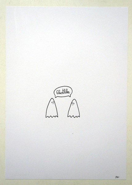 """Rabea Senftenberg: """"Ghostlike""""  - Marker and fun on paper, a piece of Berlin"""