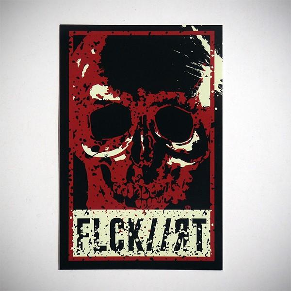 Skull - Sticker von Flocke Art