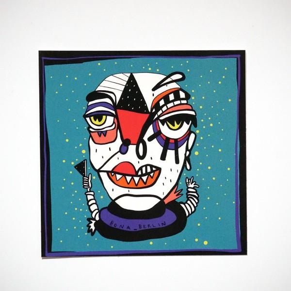 """Bona Berlin: """"Head II"""" - Sticker"""