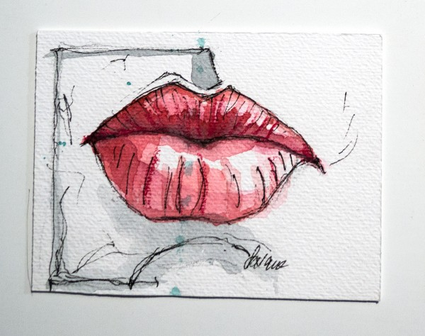 "Susanne Wilke: ""Kiss the world, it needs it!"" - Paula - Aquarell"