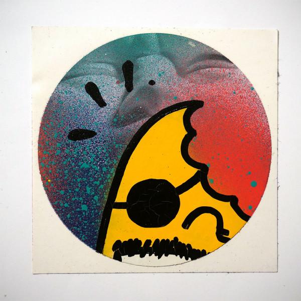 """Señor Schnu: """"Handmade Sticker 10"""" - SALZIG, Streetart Galerie in Friedrichshain"""