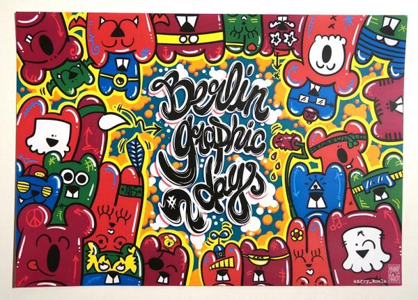 "Angry Koala: ""Berlin Graphic Days"" - 20 cm x 28 cm / Sticker"