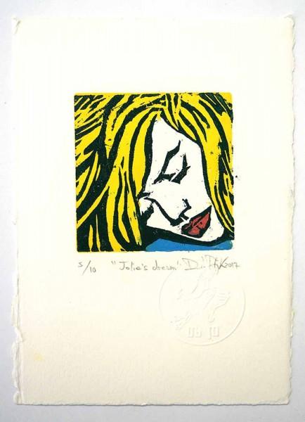 "Prizmu: ""Jolie's Dream"" - Holzdruck auf Papier - SALZIG Berlin Gallery"