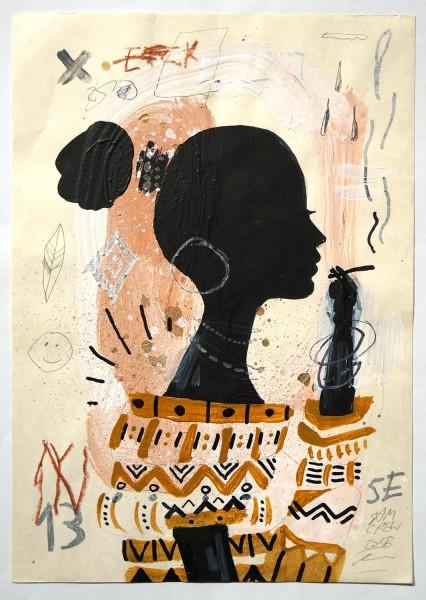 "Sam Crew aka John Reaktor: ""Woman in Smoke"" - Art de Rue - SALZIGberlin"