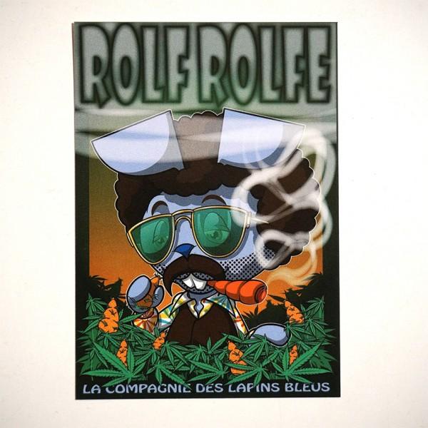 """ROLF LE ROLFE: """"La Compagnie Des Lapins Bleu"""" - Sticker"""