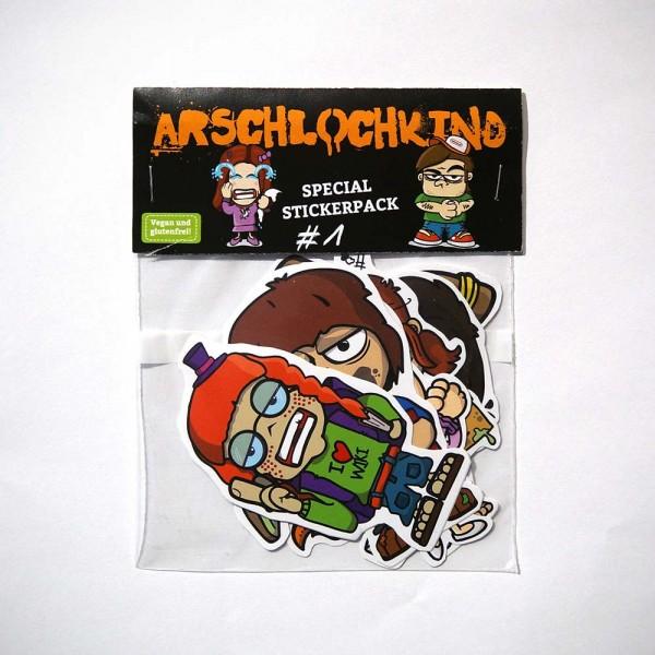 """Brainfart: """"Arschlochkind - Stickerpack"""" - SALZIG berlin"""