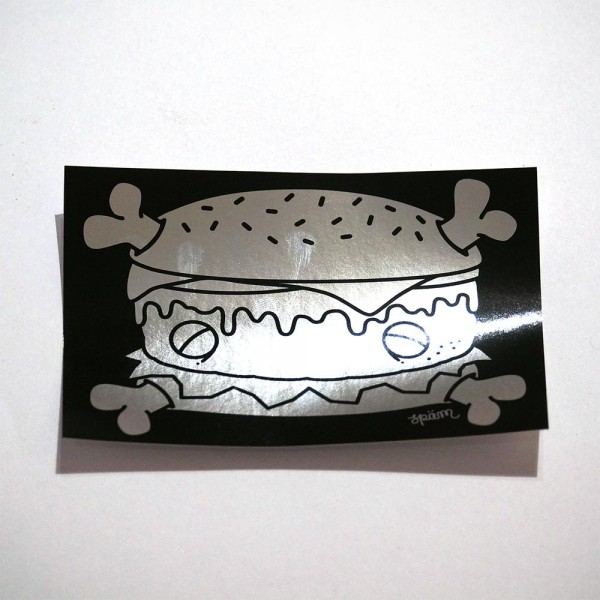 Späm: Burger - Chrome - Sticker