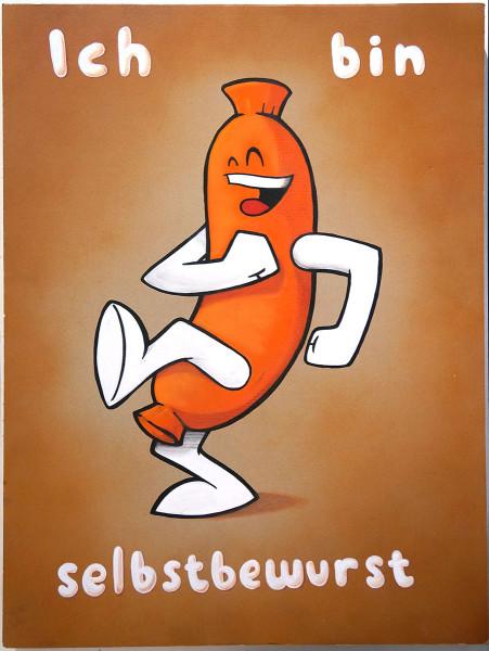 Mein lieber Prost: Ich bin Selbstbewurst - Original Artwork - SALZIG-BERLIN Gallery