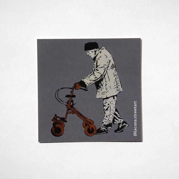 "Lacuna: ""Gertrud Wegner"" - Sticker at SALZIG Berlin"