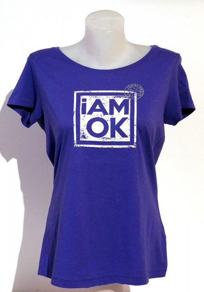 iAMOK: Poststempel Lila - lässiges Woman T-Shirt