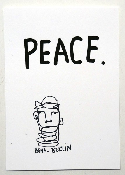 Bona Berlin: Peace - Original Postcard
