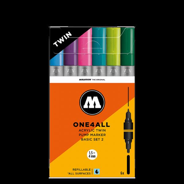 Molotow: ONE4ALL™ ACRYLIC TWIN Basic-Set 2
