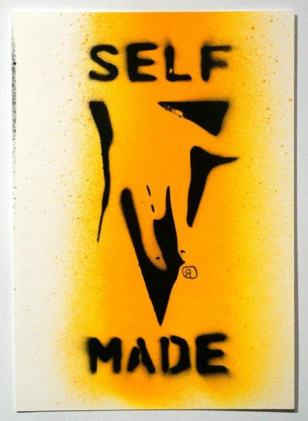 "Ostap: ""Selfmade - Yellow"" - Handmade Stencil - SALZIG Berlin"