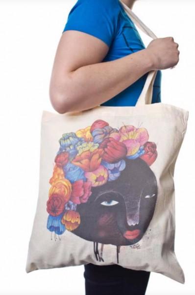 Yackfou: Stoffbeutel - Blumenhaar