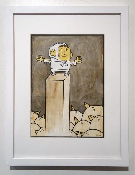 """Stefan Hoch: """"Herr der Vögel"""" - Original Artworks at SALZIGBerlin from Berlin Streetartists"""
