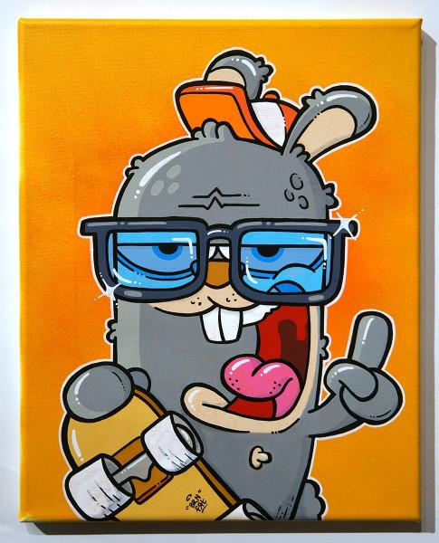 "Brainfart: ""Skate"" - mixed media on canvas - SALZIG Berlin"