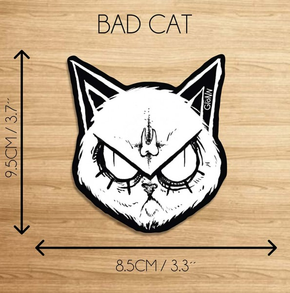 "Glönn: ""Bad Cat""  - Sticker / Aufkleber"