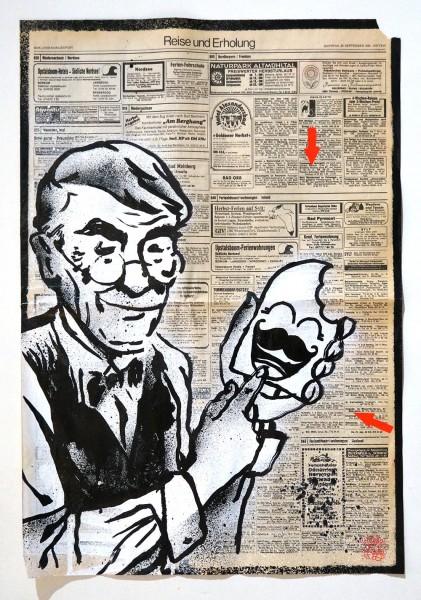 "Señor Schnu: ""Untitled Newspaper"" - newspaper 1950s - at SALZIG"