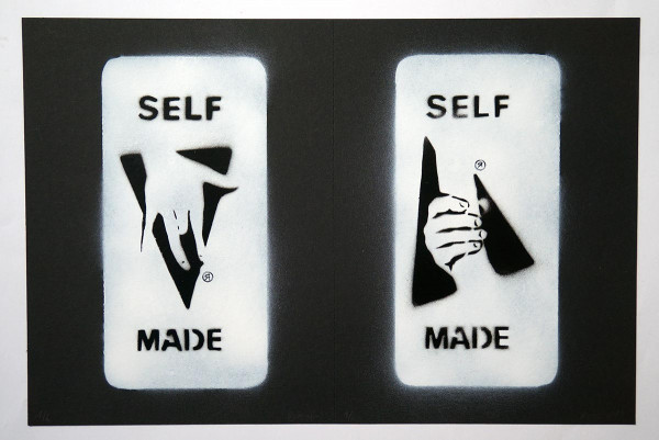 "Ostap: ""Selfmade - 2 in 1 - Black"" - Handmade Stencil - SALZIG Berlin"