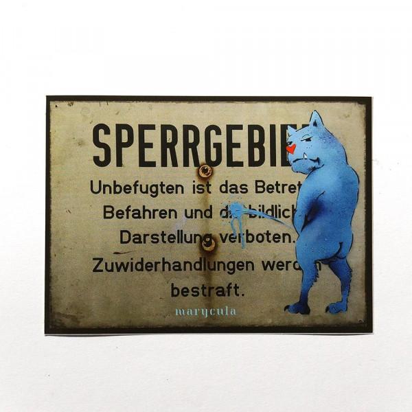 "Marycula: ""Sperrgebiet"" - Sticker - @salzig.berlin"