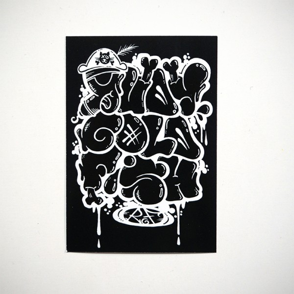 "Rudy Goldfish: ""Black and White"" - Sticker"