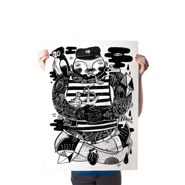 "YackFou: ""Käptn Konni"" - Poster A2"