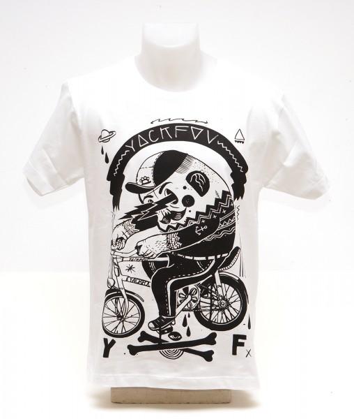 Yackfou: Potato by Bike T-Shirt auf Weiß