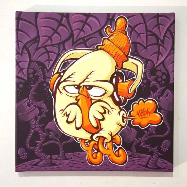 """Haevi: """"Jungle""""  - original on canvas at SALZIG, die Streetart Galerie in Friedrichshain"""